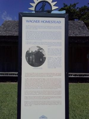 Wagner Homestead Marker image. Click for full size.
