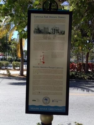 Lummus Park Historic District Marker image. Click for full size.