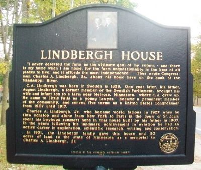 Lindbergh House Marker image. Click for full size.