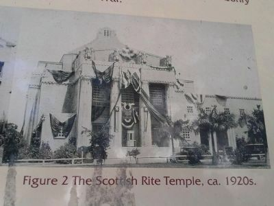 The Scottish Rite Temple ca. 1920s image. Click for full size.