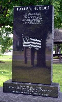 La Porte County Afghanistan–Iraq–Kuwait Memorial image. Click for full size.