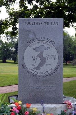 La Porte Viet Nam Memorial image. Click for full size.