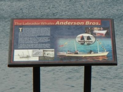 The Labrador Whaler <i>Anderson Bros.</i> Marker image. Click for full size.