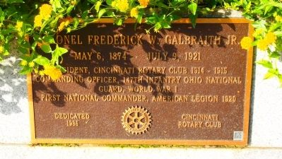Frederick W. Galbraith Marker image. Click for full size.