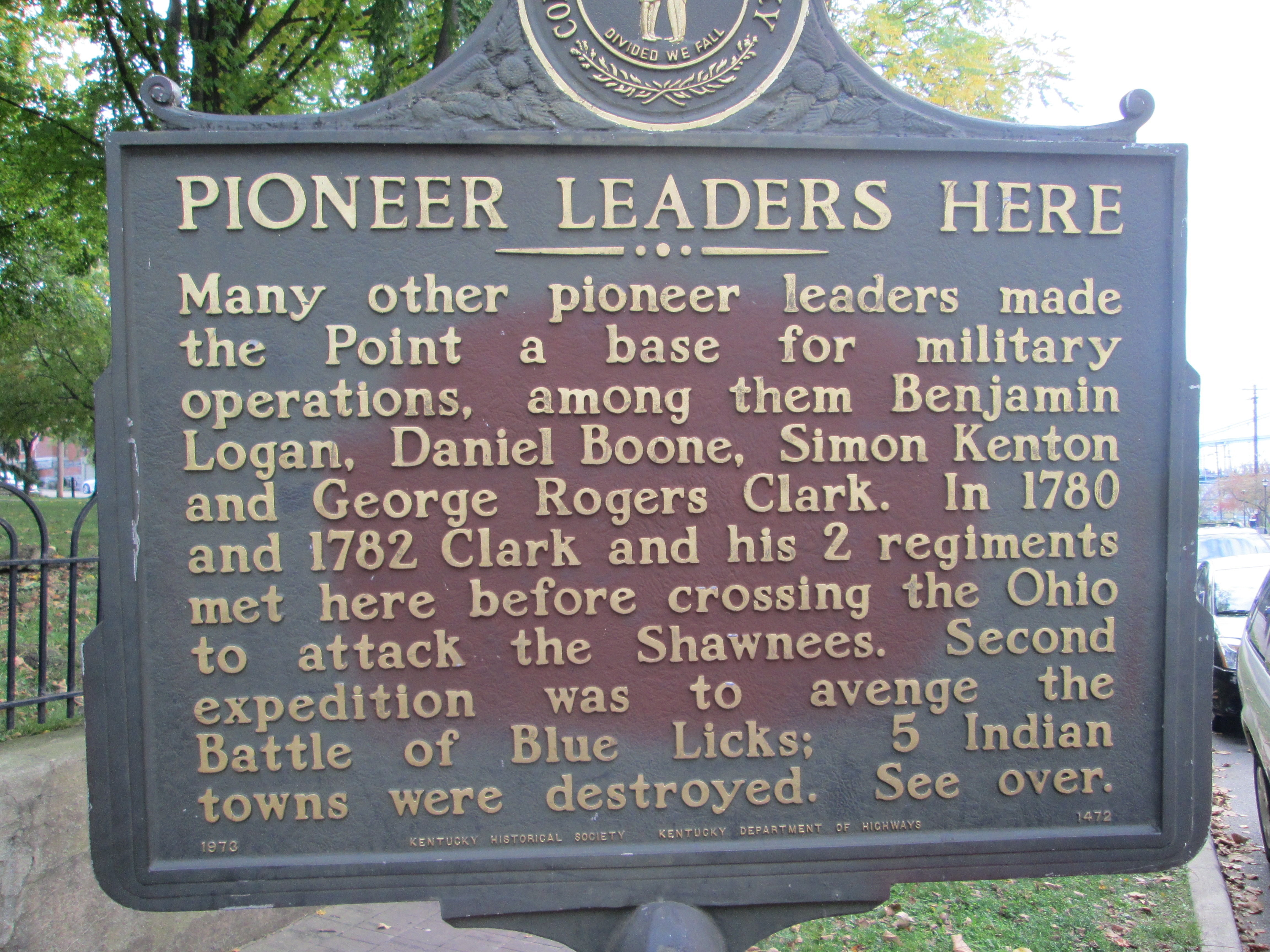 Pioneer Leaders Here Marker