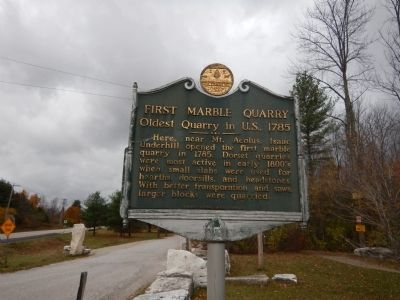 First Marble Quarry Marker image. Click for full size.