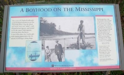 A Boyhood on the Mississippi Marker image. Click for full size.