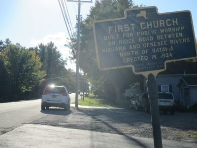 First Church Marker - Westward image. Click for full size.