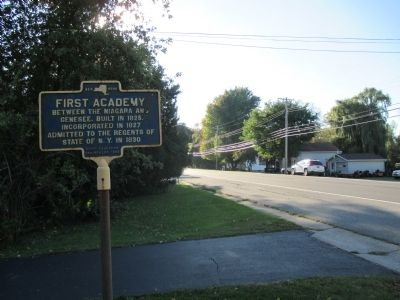 First Academy Marker - Westward image. Click for full size.