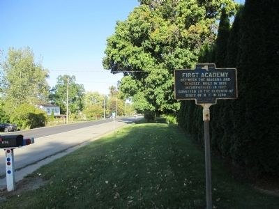 First Academy Marker - Eastward image. Click for full size.