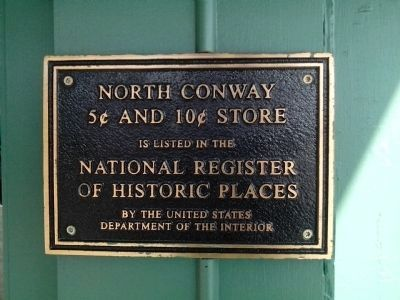 North Conway 5¢ and 10¢ Store Marker image. Click for full size.