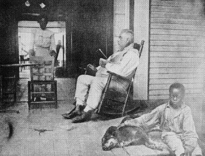 James Monroe Smith Sitting on His Veranda image. Click for full size.