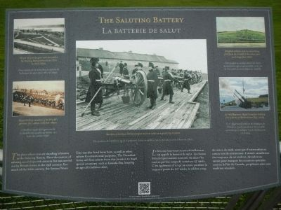 The Saluting Battery / La batterie de salut Marker image. Click for full size.