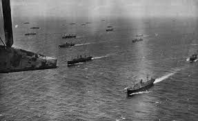 A convoy at sea image. Click for full size.