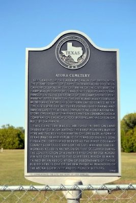 Atoka Cemetery Marker image. Click for full size.