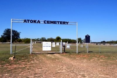 Atoka Cemetery Entrance image. Click for full size.