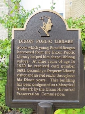 Dixon Public Library Marker image. Click for full size.