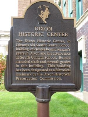 Dixon Historic Center Marker image. Click for full size.