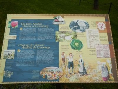 The Early Acadian History of Lunenburg Marker image. Click for full size.