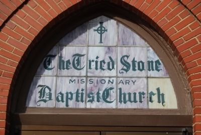 Tried Stone Baptist Church Entrance Window image. Click for full size.