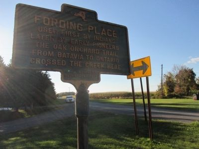 Fording Place Marker - Westward image. Click for full size.