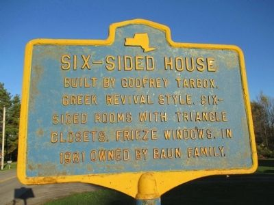 Six-Sided House Marker image. Click for full size.