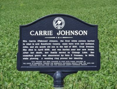 Carrie Johnson Marker image. Click for full size.