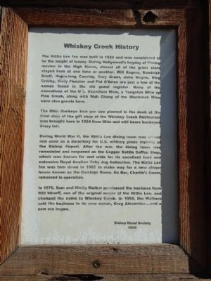 Whiskey Creek History Marker image. Click for full size.