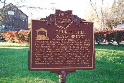 Church Hill Road Bridge Marker image. Click for full size.