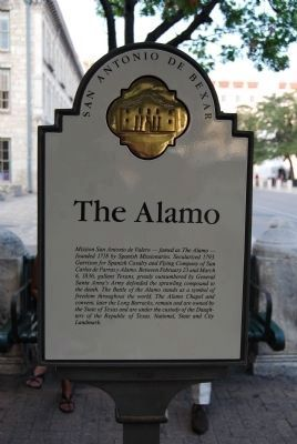 The Alamo Marker image. Click for full size.
