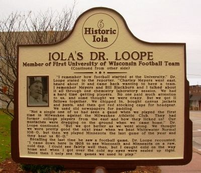 Iola's Dr. Loope Marker image. Click for full size.