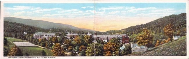 The Homestead from Sunset Hill, Hot Springs, Virginia. image. Click for full size.