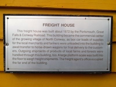 Freight House Marker image. Click for full size.