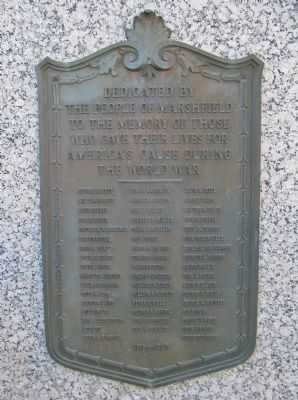 World War Memorial Bronze Tablet image. Click for full size.
