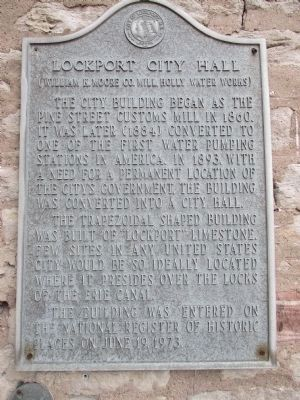 Lockport City Hall Marker (older marker) image. Click for full size.