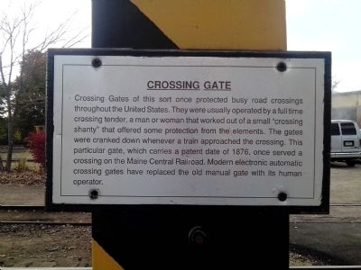 Crossing Gate Marker image. Click for full size.