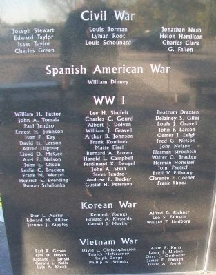 Morrison County Veterans Memorial Honor Roll image. Click for full size.