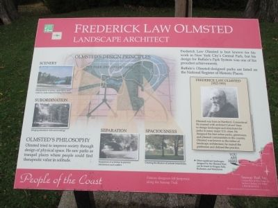 Frederick Law Olmsted Marker image. Click for full size.