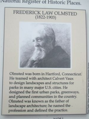 Frederick Law Olmsted Marker Biography Detail image. Click for full size.
