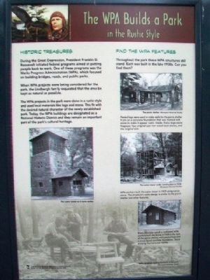 The WPA Builds a Park in the Rustic Style Marker image. Click for full size.