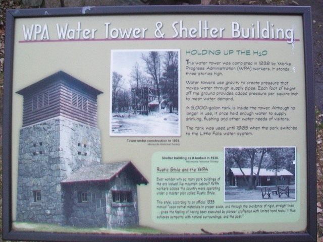 WPA Water Tower & Shelter Building Marker