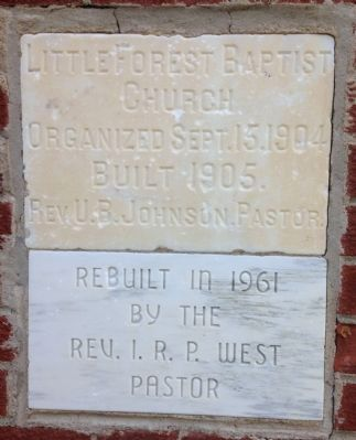 Little Forest Baptist Church Corner Stones image. Click for full size.
