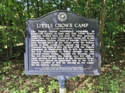 Little Crow's Camp Marker image. Click for full size.