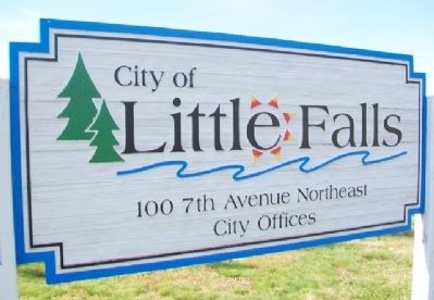 Little Falls City Hall Sign image. Click for full size.