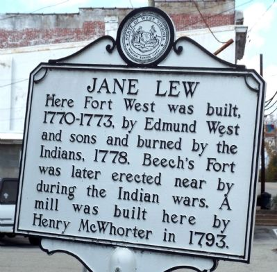 Jane Lew Marker Side image. Click for full size.