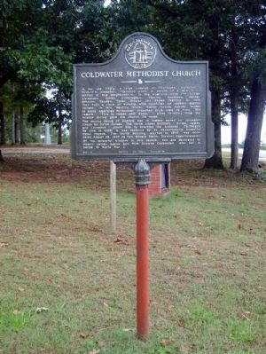 Coldwater Methodist Church Marker image. Click for full size.