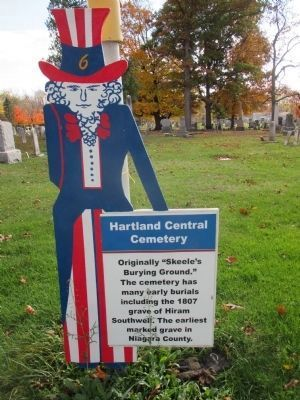 Newer Hartland Central Cemetery Marker image. Click for full size.