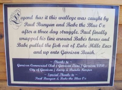 Lake Mille Lacs Walleye Marker image. Click for full size.