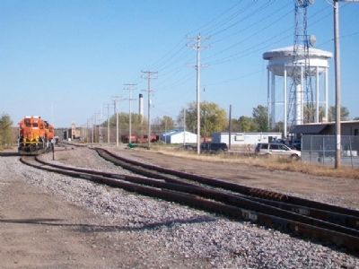 Looking East from Vicinity of First N. P. Depot Marker image. Click for full size.