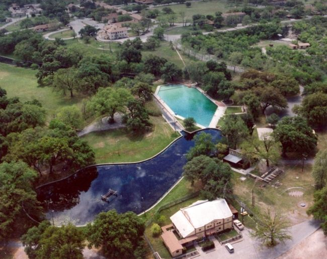 Las Moras Spring and post swimming pool, Fort Clark Historic District. image. Click for full size.